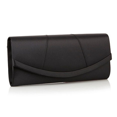 Debut - Black panelled satin clutch bag