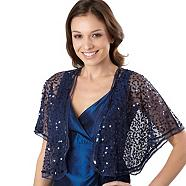 Navy sequinned bolero