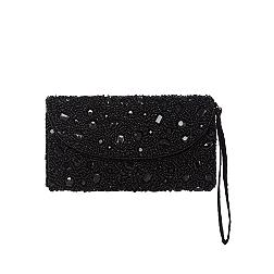 Black embellished clutch bag