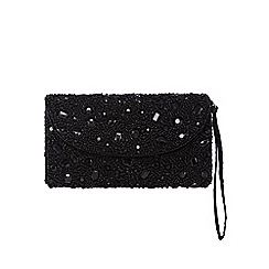 Star by Julien Macdonald - Black embellished clutch bag