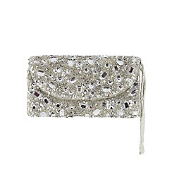 Star by Julien Macdonald - Silver sequin wristlet purse