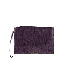 Star by Julien Macdonald - Purple snakeskin-effect clutch