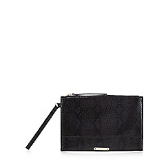 Star by Julien Macdonald - Black snake skin effect clutch bag