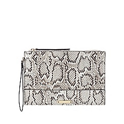Star by Julien Macdonald - Grey snakeskin-effect clutch