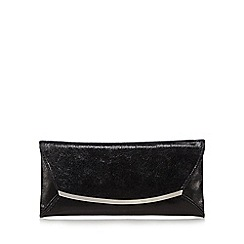 Star by Julien Macdonald - Black metal clutch bag