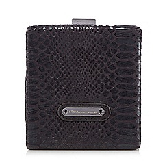 Star by Julien Macdonald - Black snakeskin-effect box clutch