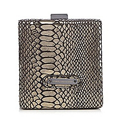 Star by Julien Macdonald - Grey snakeskin-effect box clutch