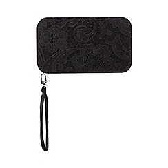 Star by Julien Macdonald - Black lace clutch bag