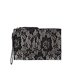 Star by Julien Macdonald - Black wrist wrap clutch