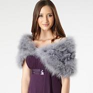 Silver jewelled shrug