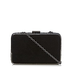 RJR.John Rocha - Black sequin velvet clutch bag