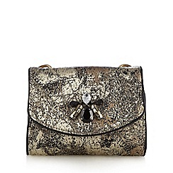 RJR.John Rocha - Gold brocade embellished mini shoulder bag
