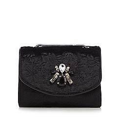 RJR.John Rocha - Black velvet brocade embellished mini shoulder bag