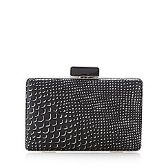 Principles by Ben de Lisi - Black snakeskin-effect framed clutch bag