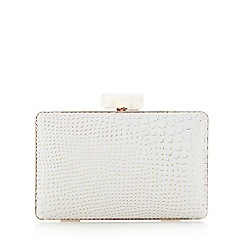 Principles by Ben de Lisi - White snakeskin-effect framed clutch bag
