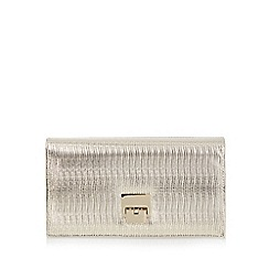 Principles by Ben de Lisi - Gold metallic reptile clutch bag