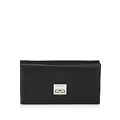 Principles by Ben de Lisi - Black reptile-effect clutch bag
