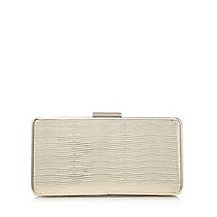 Principles by Ben de Lisi - Gold croc-effect clutch bag
