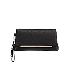 Principles by Ben de Lisi - Black fold over clutch