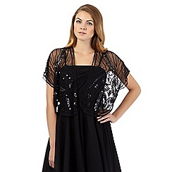 No. 1 Jenny Packham - Black leaf embellished shrug