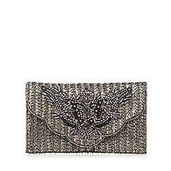 No. 1 Jenny Packham - Dark grey envelope clutch bag