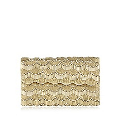 No. 1 Jenny Packham - Gold scalloped beaded clutch bag