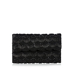 No. 1 Jenny Packham - Black scalloped beaded clutch bag