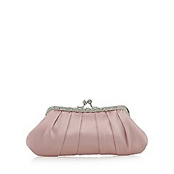 No. 1 Jenny Packham - Pink satin floral embellished clutch bag