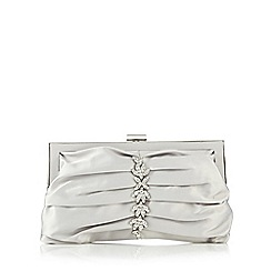 No. 1 Jenny Packham - Silver pleated jewel embellished clutch bag