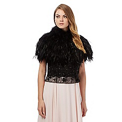 No. 1 Jenny Packham - Black feather shrug