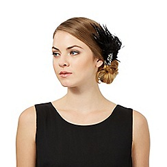 No. 1 Jenny Packham - Black feather jewelled hair clip