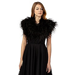 No. 1 Jenny Packham - Black feather cover-up