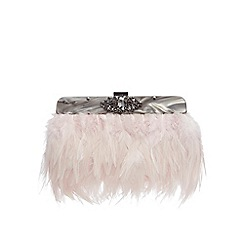No. 1 Jenny Packham - Pink feather clutch bag