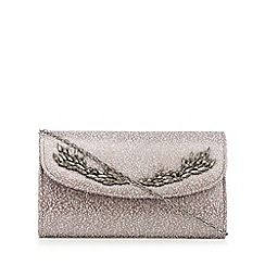 No. 1 Jenny Packham - Metallic embellished brocade clutch bag