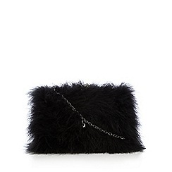 Top Hat by Stephen Jones - Black marabou feather shoulder bag