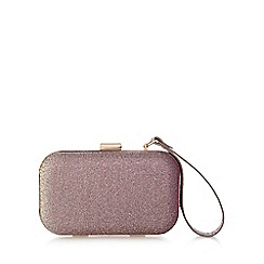 Debut - Gold embellished glitter clutch bag