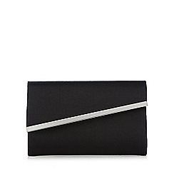 Debut - Black textured asymmetric clutch bag