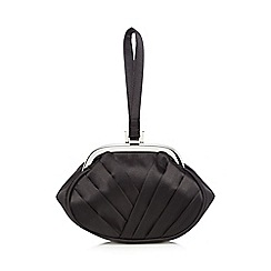 Debut - Black pleated wristlet bag