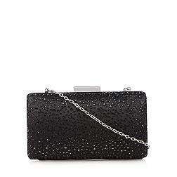 Black stone clutch bag