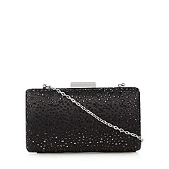 Debut - Black stone clutch bag