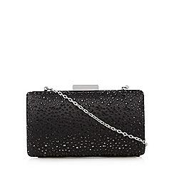 Debut - Black stone clutch bag