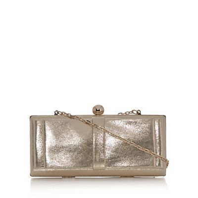 Debut Gold bow front clutch bag