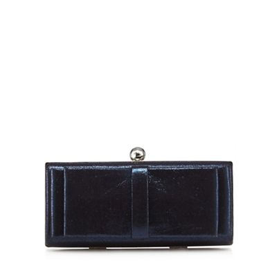 Debut Blue bow front clutch
