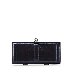 Debut - Blue bow front clutch