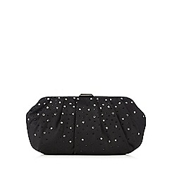 Debut - Black beaded clutch bag