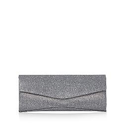 Dark grey textured glitter clutch bag