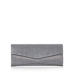 Debut - Dark grey textured glitter clutch bag