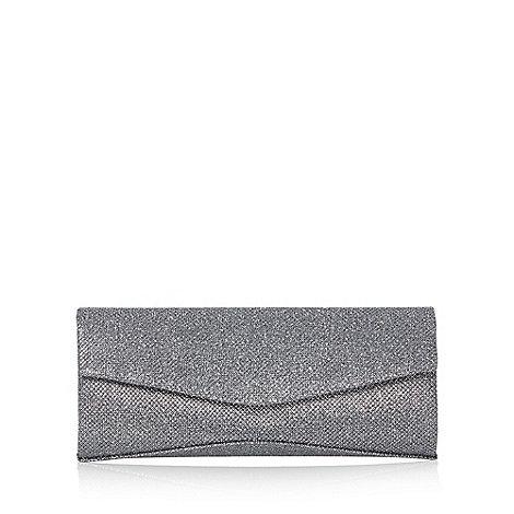 Debut - Dark grey textured glitter clutch bag