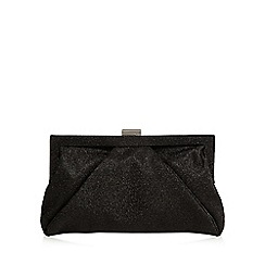 Debut - Black glittery framed clutch bag