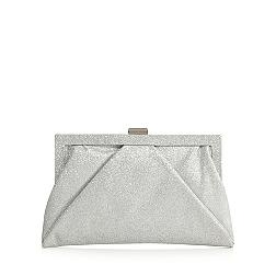 Silver glittery framed clutch bag